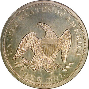 1864 S$1 MS reverse