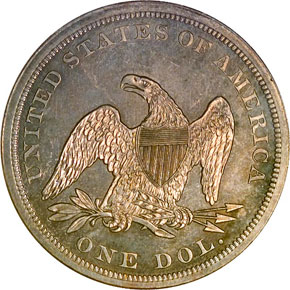 1865 S$1 MS reverse