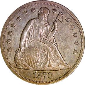 1870 S S$1 MS obverse