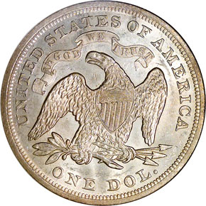 1871 S$1 MS reverse