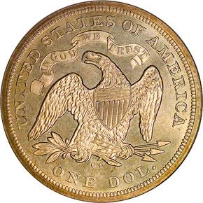 1872 CC S$1 MS reverse