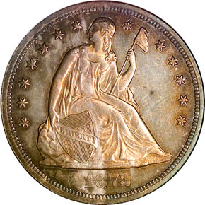 1873 CC S$1 MS obverse