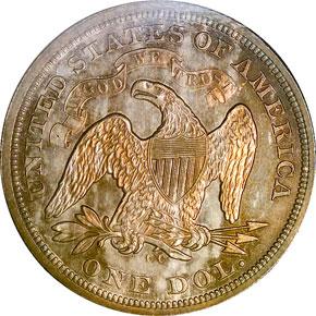 1873 CC S$1 MS reverse