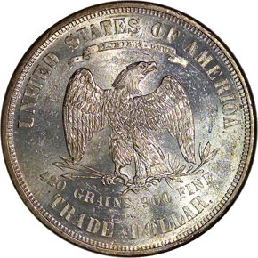 1874 CC T$1 MS reverse