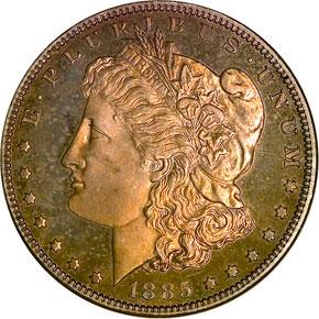 1885 S$1 PF obverse