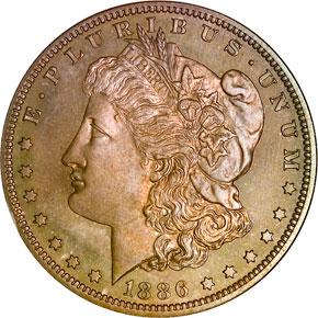 1886 S$1 PF obverse