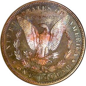 1887 S$1 PF reverse