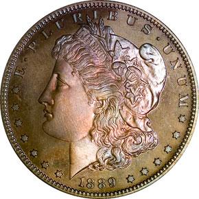 1889 S$1 PF obverse