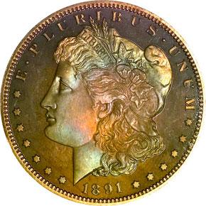 1891 S$1 PF obverse