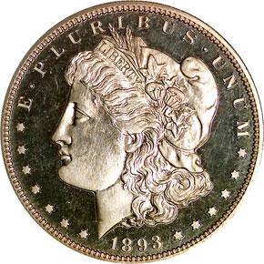 1893 S$1 PF obverse