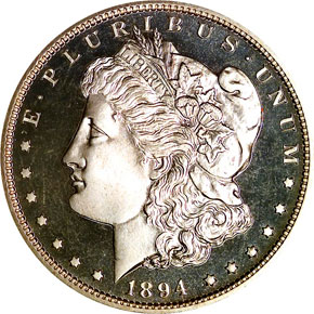 1894 S$1 PF obverse