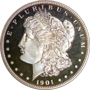 1901 S$1 PF obverse