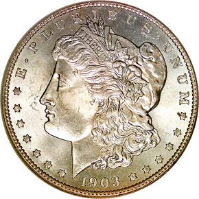1903 S S$1 MS obverse