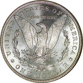 1891 S S$1 MS reverse