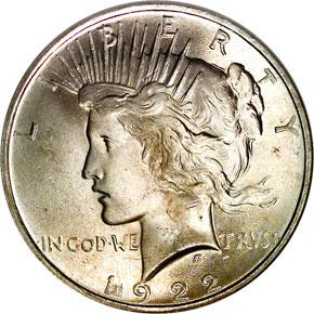 1922 S$1 MS obverse