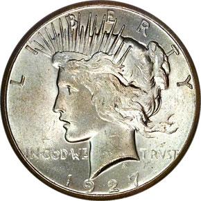 1927 S$1 MS obverse