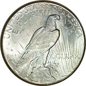 1927 S$1 MS reverse