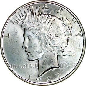 1927 D S$1 MS obverse