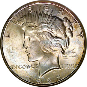 1928 S S$1 MS obverse