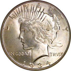 1934 D S$1 MS obverse