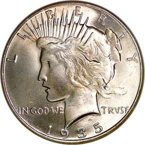 1935 S$1 MS obverse
