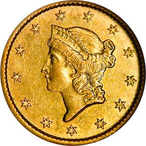 1850 O G$1 MS obverse