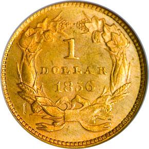 1856 SLANTED 5 G$1 MS reverse