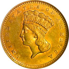 1859 G$1 MS obverse
