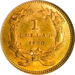 1860 G$1 MS reverse