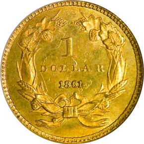 1861 G$1 MS reverse