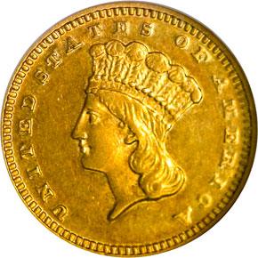 1871 G$1 MS obverse