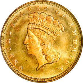 1877 G$1 MS obverse