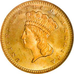 1880 G$1 MS obverse