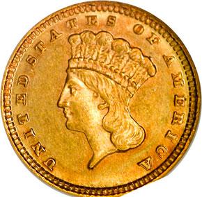 1882 G$1 MS obverse