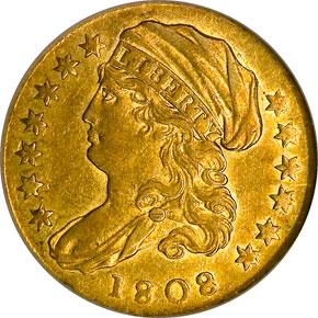 1808 $2.5 MS obverse