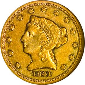 1841 $2.5 PF obverse