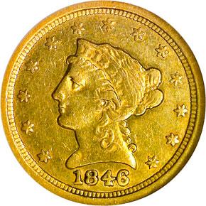 1846 O $2.5 MS obverse
