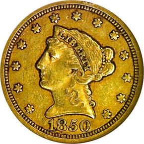 1850 C $2.5 MS obverse