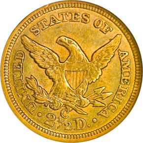 1858 C $2.5 MS reverse