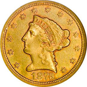 1873 S $2.5 MS obverse