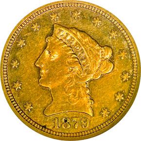 1879 S $2.5 MS obverse