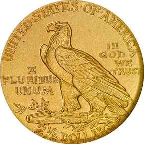 1915 $2.5 PF reverse