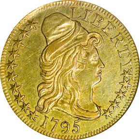 1795 SMALL EAGLE $5 MS obverse