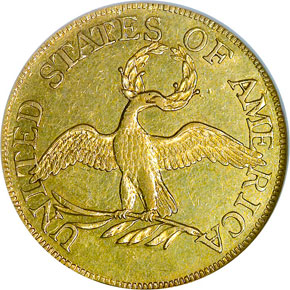 1795 SMALL EAGLE $5 MS reverse