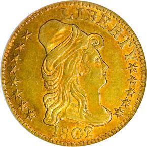 1802/1 $5 MS obverse