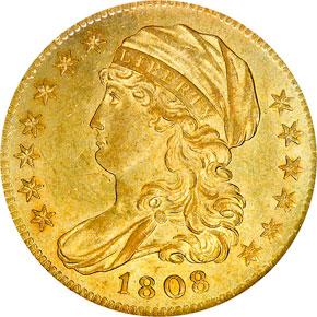 1808 $5 MS obverse