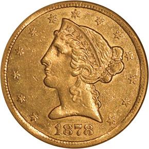 1878 CC $5 MS obverse