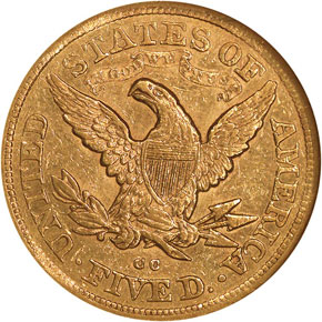 1878 CC $5 MS reverse