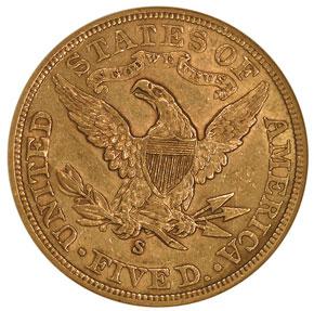 1900 S $5 MS reverse