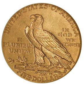 1909 $5 MS reverse